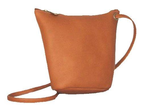 David King & Co. Top Zip Mini Bag 518, Tan, One - Top Zip David Handbag King