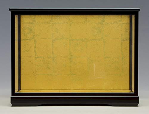 人形ケース475 間口68×奥行33×高さ50cm(ケース内寸) 黒塗り ガラスケース 木製戸付 雛人形 木目込人形   B07KGMZ73P