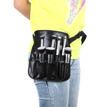 Amazon.com  Docooler PVC Cosmetic Makeup Brush Apron with Artist Belt Strap  Professional Bag (Size1)  Beauty f87c782e3923a