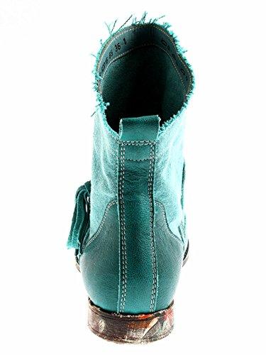 Think! Stiefelette Denk! Lederschuhe Damen Schuhe Leder Kurzstiefel Smaragd
