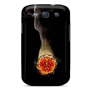 High Impact Dirt/shock Proof Case Cover For Galaxy S3 (smoking Brain)