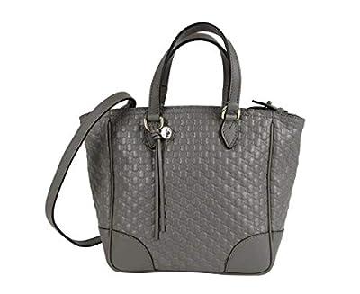 Gucci Women's Gray Micro-guccissima Leather Small Crossbody Bag 449241 1226