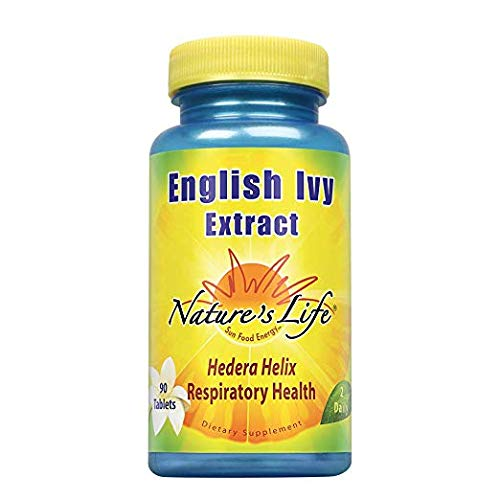 Nature's Life English Ivy Leaf Extract Tablets, 136 Mg, 90 Count (2 Pack)