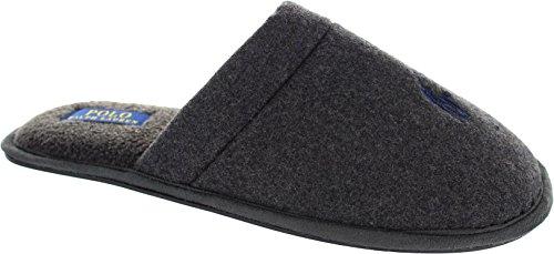 Polo Ralph Lauren Herren Mens Sunday Scuff Hausschuhe 992722 Grey