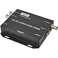 TVI Video Converter Anysun 720P/1080P Analog High Definition TVI Camera connector to HDMI/VGA/CVBS & HDTVI Video Loop Ouput