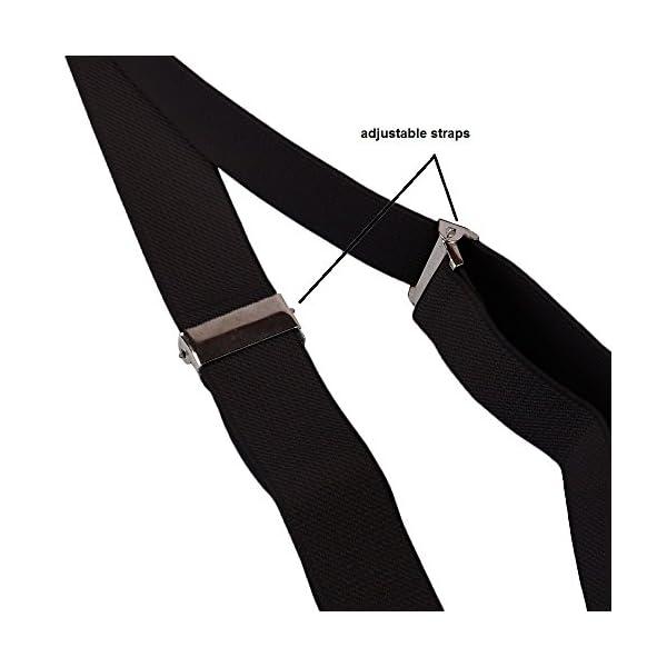 Suspenders – Adjustable Suspenders w/Braces – Y-Back Elastic by CoverYourHair