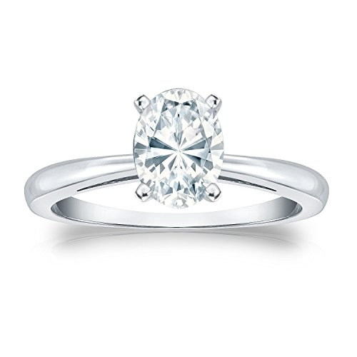 Oval Anniversary Ring Setting (JoGray 18K White Gold 4-Prong Oval Diamond Anniversary Ring 2ct Size 10)