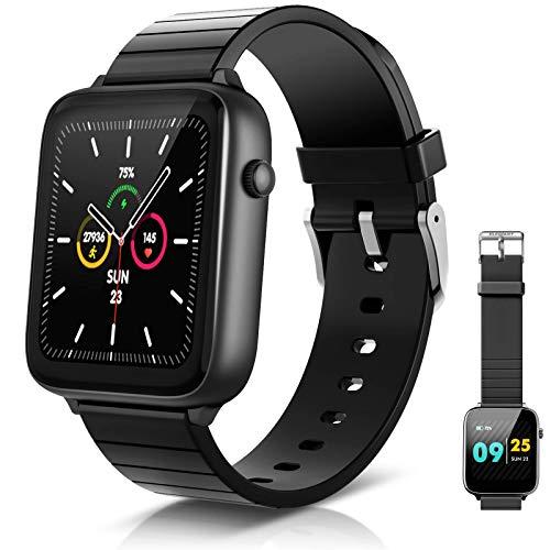 """ELEGIANT SmartWatch 1.54 """" IP68 smartwatch met touchscreen, slimme activiteitsarmband heren dames voor sport…"""
