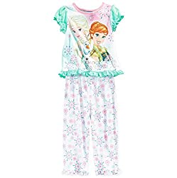 Disney Little Girls Frozen Two-Piece Top and Pants Pajama Set - 2T