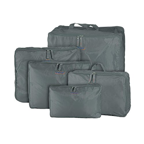 Waterproof 5-Piece Packing Bags (Red) - 1