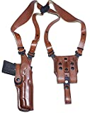 """Premium Leather Vertical Shoulder Holster System for Springfield XD-E 9mm 3.3"""" BBL, Right"""