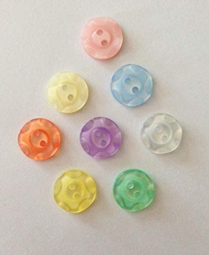 100 ASSORTED COLOURS FISHEYE BUTTONS SIZE 18-11MM