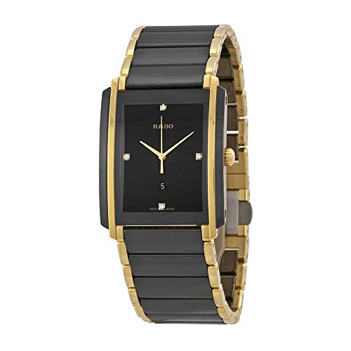 (Rado Integral Jubile Two-Tone Black Ceramic And Gold Mens Watch)