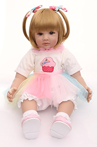 (Love Bella 23''Soft Body Realistic Toddler Dolls Lifelike Simulation Baby Dolls for Kids Birthday and Accompany Baby's Growth)
