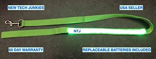 NTJ 4ft Long (LED 1ft Glow) Leash Pet Glow Dog Cat Night ...