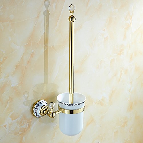 XY&XH Toilet Brush Holder , Neoclassical Ti-PVD Wall Mounted Toilet Brush Holder