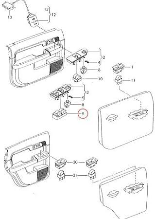 GTV INVESTMENT 8Z0959851B5PR Commutateur de fen/être avant A4 B6