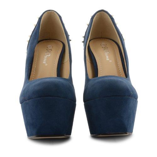 Footwear Sensation - Zapatos de vestir para mujer azul - azul