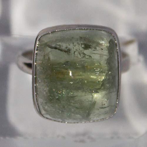 Heliodor ring, yellow beryl ring, 17x15x10 mm