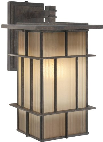 Golden Lighting 10705-L WI Tucson collection Outdoor Sconce, ()