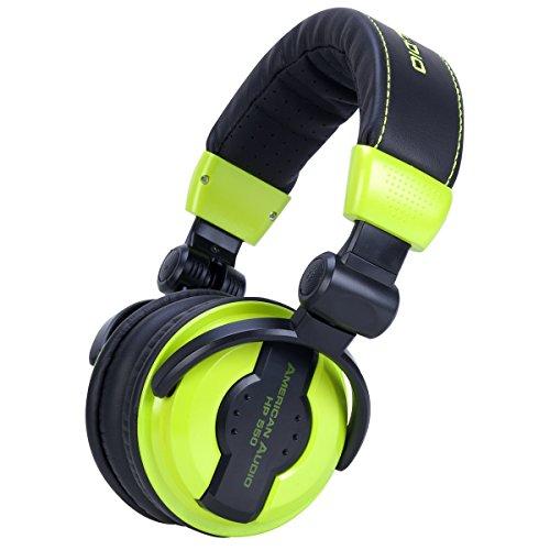 Folding Pro Dj Headphones - American Audio Hp550 Green Foldable Professional Headphones