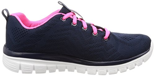 Zapatillas Mujer Azul Pink Graceful Hot Navy para Connected Get Skechers tw4Sqg1x