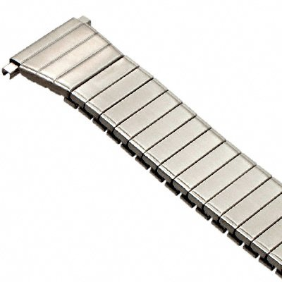 Speidel Men's Stainless Steel Comfortable Stretch Watch Band, Silver Tone Replacement Strap, 18-21mm, Straight End with No Clasp