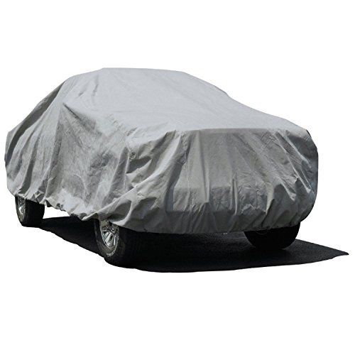Budge Lite Truck Cover Fits Truck with Long Bed Standard Cab Pickups up to 228 inches, TB-4 - (Polypropylene, Gray) -