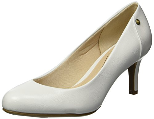LifeStride Women's Lively Pump, White, 9.5 W US Wide Dress Pumps