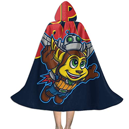 Ratchet And Clank Halloween Costume (Super Space Bros Ratchet and Clank Unisex Kids Hooded Cloak Cape Halloween Xmas Party Decoration Role Cosplay Costumes)