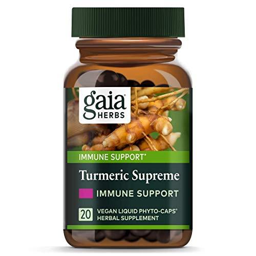 Gaia Herbs, Turmeric Supreme Immune A.S.A.P, Turmeric Curcumin Immune Support with Echinacea, Sambucus Black Elderberry…