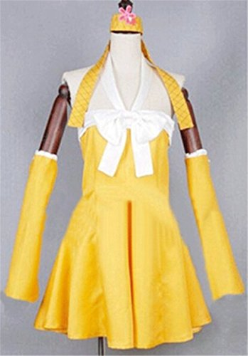 Levy Mcgarden Cosplay Costume (Vicwin-One Fairy Tail Levy Mcgarden Dress Cosplay Costume)