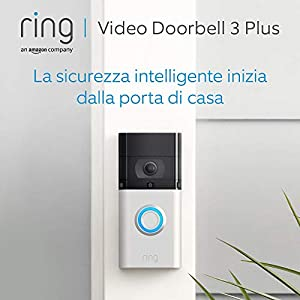 Ring Video Doorbell 3 Plus - Video in HD, rilevazione di movimento avanzata, anteprime di 4 secondi e facile installazione