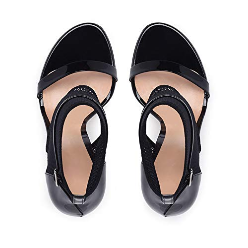 Hoesczs Woman Black Style High Summer 34 Shoes Diseño Rome 43 Personalizados Zapatos Sandals Hollow Heels Grande Tamaño Colores Marca rAUqvRr
