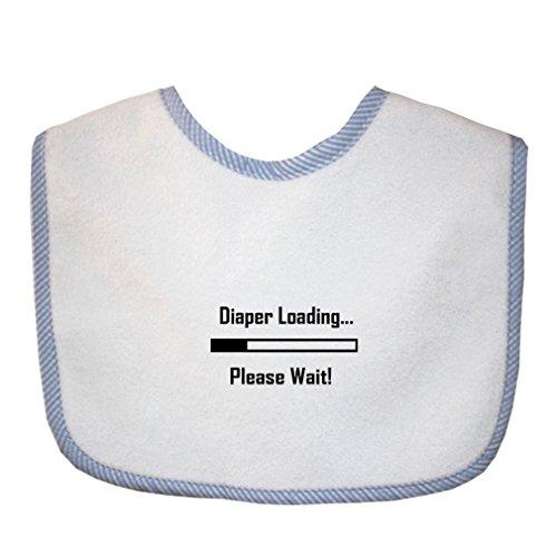 Diaper Loading… Please Wait! Cute Rascals Baby Gingham Trim Terry Bib Blue by Cute Rascals