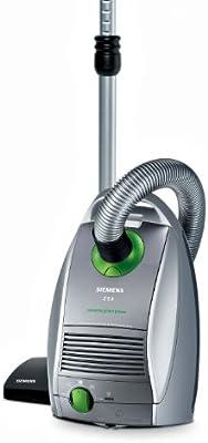 Siemens Vsz5Gpx1 - Aspirador con bolsa (Tecnologia Compressor 950W, mismos resultados que uno de 2400W, 4,5L, Parquet, Filtro Hepa, Tecnología de succión Efficient Air Dinamics), gris: Amazon.es: Hogar