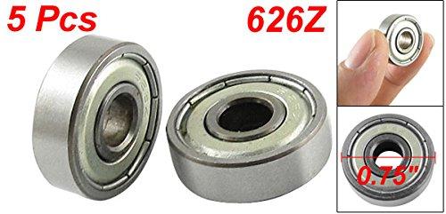 uxcell 626Z Doppel Metall geschirmt Miniature Metric Ball Kugellager 6/x 19/x 6/mm 5/PCS,