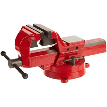 """Yost Vises FSV-4 4"""" Heavy-Duty Forged Steel Bench Vise with 360-Degree Swivel Base"""
