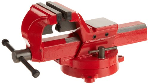 "Yost Vises FSV-4 4"" Heavy-Duty Forged Steel Bench Vise with 360-Degree Swivel Base"