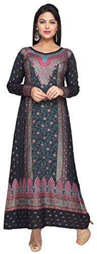 Maple Clothing Printed Womens Caftan Evening Long Dress, used for sale  Delivered anywhere in USA