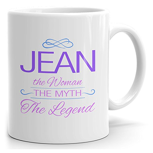 (MugMax The Woman the Myth the Legend D4 Ceramic Coffee Mug Personlized Jean White 15)