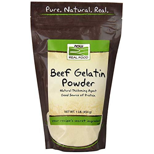 - Now Foods Beef Gelatin Natural Powder 1 lb
