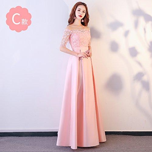 Fiesta De Bridesmaid RONG Dress XIU Mujer Vestido Bridesmaid De Noche C Pink Dress Vestido Vestido Rzqngq0