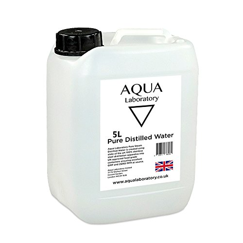 Aqua Laboratory 0 0 PPM Pure Steam Distilled Water (5 litres in UN  Container) - High Grade Pure Water
