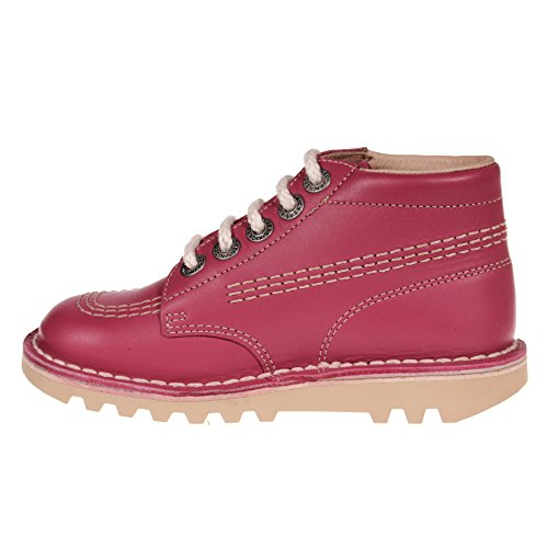 KICKERS Kick Hi Leder Kleinkind School Shoe Kids Stiefel, Rosa/Blossom Pink