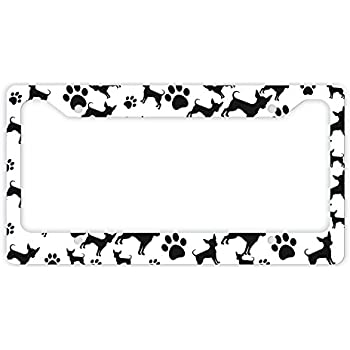 Amazon Com Thiswear Chihuahua License Plate Frame Dog