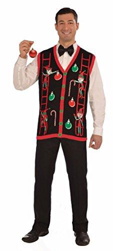 Adult Unisex Decorating Elves Christmas Ugly Sweater Vest Costume Medium (Vest Renaissance Girl Costume)