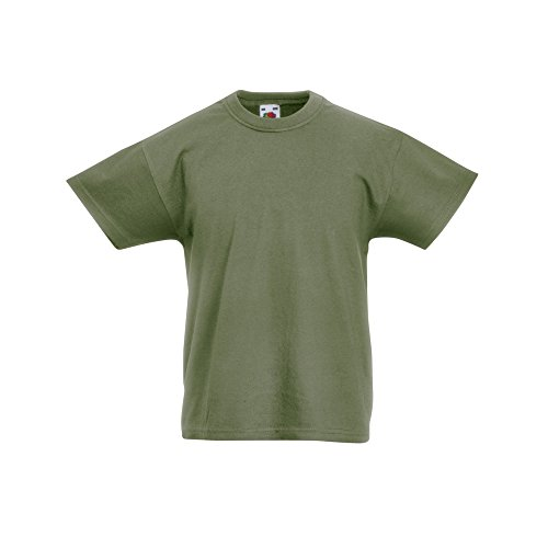 - Fruit of the Loom Childrens/Kids Original Short Sleeve T-Shirt (7-8 Years) (Classic Olive)