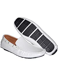 Wow White Party Slip On Mens Loafer Driver
