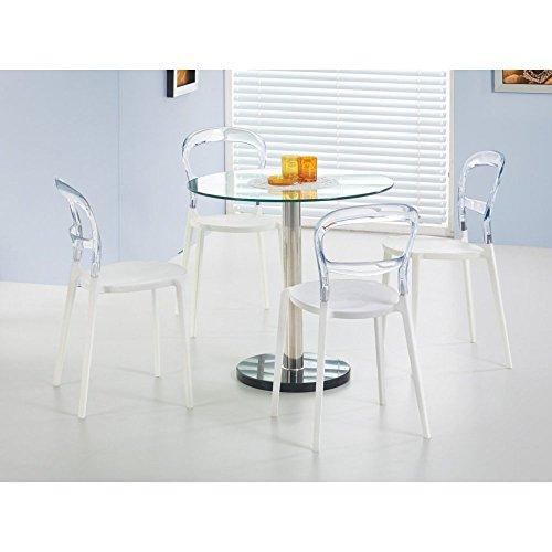 JUSThome Cyryl Esszimmertisch Küchentisch Esstisch aus Glas (DxH): 80x74 cm